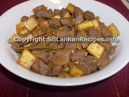 Sri Lankan Beef & Potato Devilled recipe