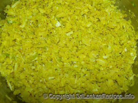 Sri Lankan Cabbage(gowa) recipe