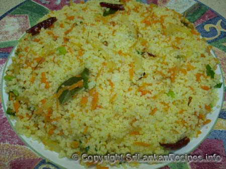 Sri Lankan CousCous recipe