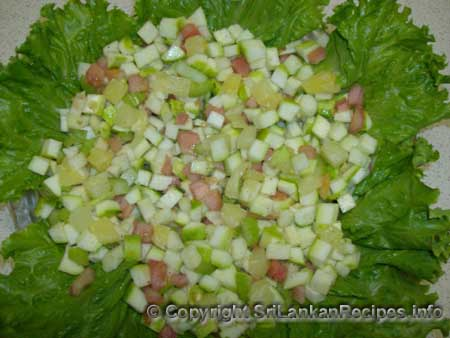 Sri lankan Cucumber salad recipe