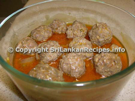 Sri Lankan Curried Meat Balls