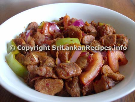 Sri Lankan Devilled Soya Recipe