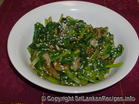 STIR-FRIED GARLIC SPINACH RECIPE
