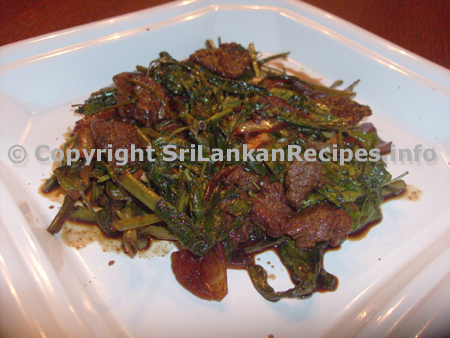 Sri Lankan Kankun with Beef Dish