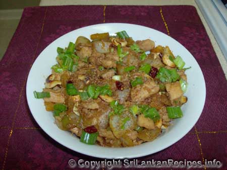 Sri Lankan Pineapple and Cashew Chicken