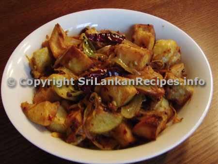Sri lankan Potato stir fry (Ala thel dhala) recipe