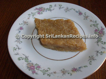 Sri Lankan Saw Dodol Recipe