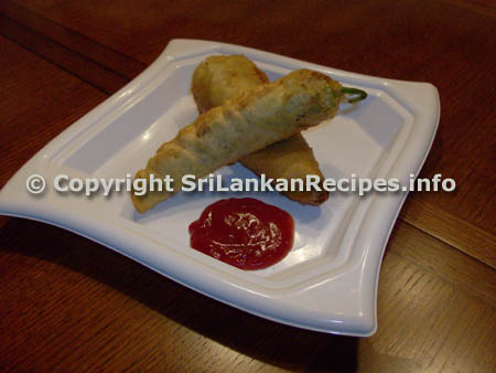 Sri lankan Stuffed Chillies recipe