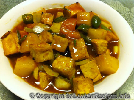 Sri Lankan Sweet & Sour Tofu recipe