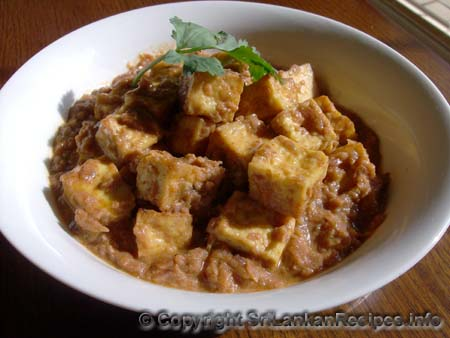 Sri Lankan Tofu Recipe