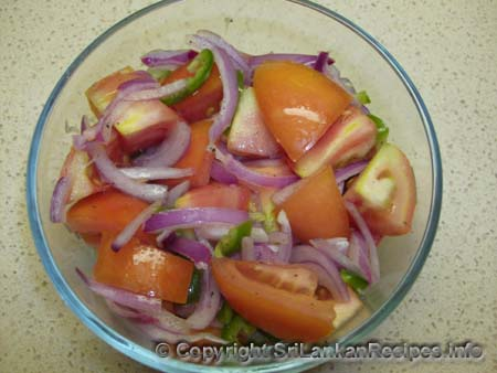 Sri lankan Tomato salad recipe