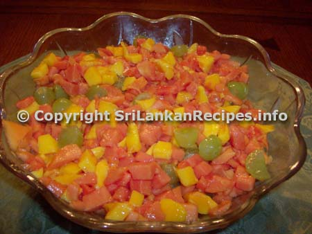 Sri Lankan Tropical Fruit Salad