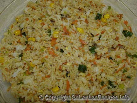 Sri lankan fried rice recipe